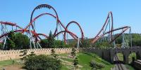 The Dragon Khan in Spain's Universal Port Aventura Amusement Park.