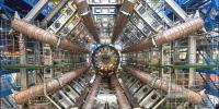 Part of the Large Hadron Collider at CERN, on the border of Switzerland and France. The LHC is a particle accelerator, designed to study fundamental particles.