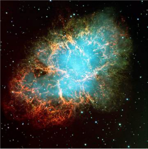 <b>Figure 7.41</b> Crab Nebula (credit: ESO, via Wikimedia Commons